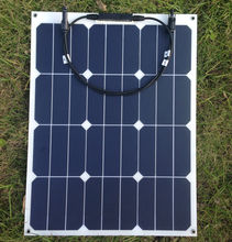 Sunpower flexible solar panel 40w; monocrystalline semi flexible solar panel 40w; solar cell 22.2% charging efficiency