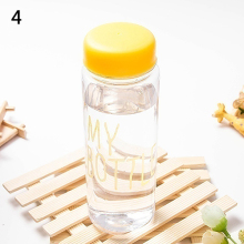 Fashion Transparent Fruit Juice Bottle 500ml Portable Sport Travel Office