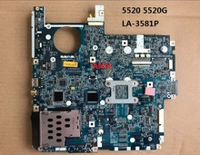 Hot sale ICW50 LA-3581P laptop motherboard for Acer 5520 5520G DDR2 full tested Mainboard(China)