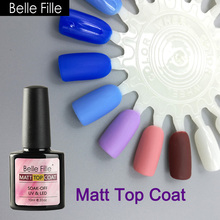 Belle Fille UV Matt Top Coat Gel Primer Varnish French Nail Gel Polish Primer DIY Nails Art UV Soak Matt Top Coat Makeup