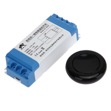 AC85-250V Wide Voltage 433.92MHz 1 Way Single Wireless Remote Control Switch Home Electrical Switch With Round Sticking Button(China)