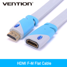 Vention HDMI Male to Female Extension Cable Adapter Gold Plated 1m 2m 3m HDMI Extension Extender Adaptor 4V 3D 1080P for PC HD