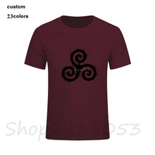 Derek Hale Teen Wolf Tatto Mens Short Sleeve Harajuku Hipster T-Shirt Create Tee t Shirts MALE O Neck tShirt free drop shipping(China)