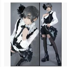 Kuroshitsuji Black Butler Ciel Phantomhive Cosplay Costume(China)
