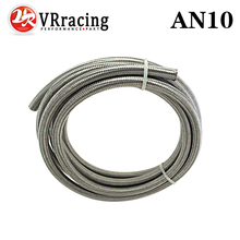 "VR RACING - AN10 10AN (14.2MM / 9/16"" ID) STAINLESS STEEL BRAIDED Racing Hose Fuel Oil Line 5 METER/5M VR7114"