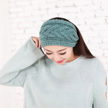 New arrival South Korea imported high quality wool knitting headband essential high quality  hair band in autumn and winter