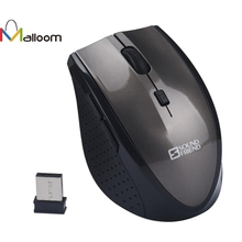 Malloom Best Gaming Mouse Optical Positioning Finger mouse 2.4Ghz Wireless Battery 10m Distances 3200 DPI For Computer Pc Laptop(China)