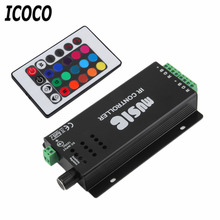 ICOCO 1pcs hot 24 Key Music IR Remote Controller Sound Sensitive for RGB LED Strip Light