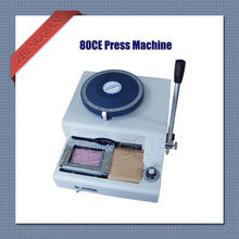 Manual 80 character letterpress id pvc card embosser press machine convex and concave integrate(China)