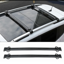 For Jeep Renegade 2014 2015 2016 2017 Aluminium Alloy Side Rails Cross Bars Luggage Carrier Black Roof Rack 2Pcs Car Accessories