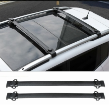 For Jeep Renegade 2014 2015 2016 2017 Aluminium Alloy Side Rails Cross Bars Luggage Carrier Black Roof Rack 2Pcs Car Accessories(China)