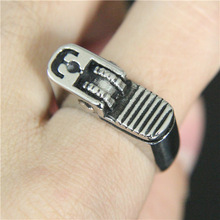 Band Party Hot Cigarette Lighter Ring 316L Stainless Steel Ring Cool Punk Style Fashion Boys Ring(China)