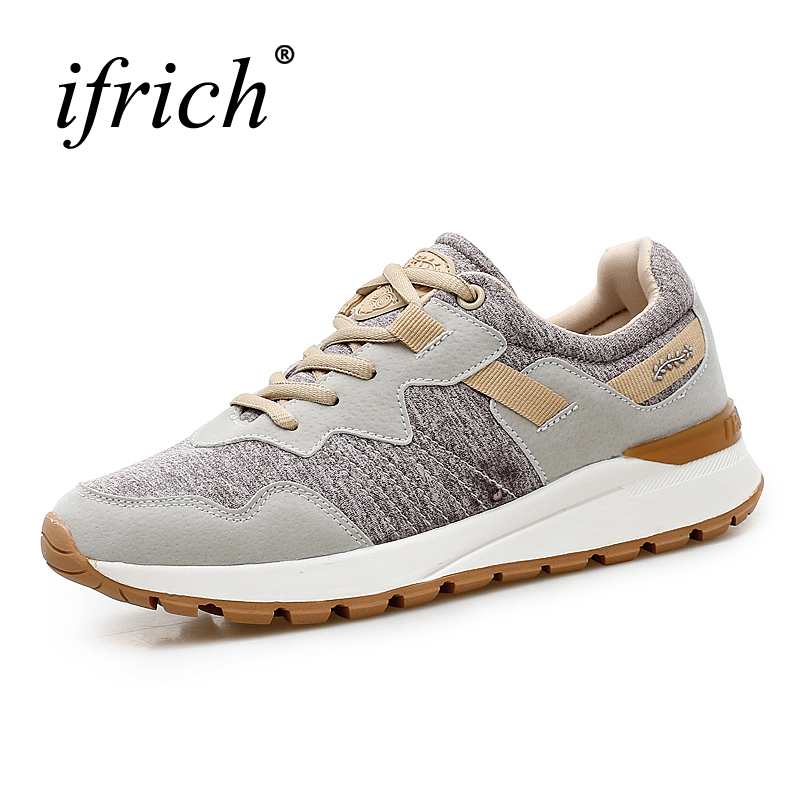Gym Shoes Women Spring/Summer Ladies Running Trainers Brown/Gray Jogging Shoes Womens Comfortable Sport Shoes Female