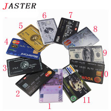 JASTER new waterproof Super Slim Credit Card USB Flash Drive 32GB pen drive 4G 8G 16G bank card model Memory Stick