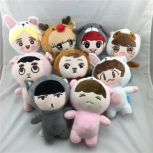 [PCMOS] Korea Fashion Kpop EXO Superstar Baek Hyun Chan Yeol Kai Se Hun Su Ho D.O  Luhan Chen Cartoon Plush Toy Stuffed Dolls