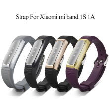 Buy 10mm silicon smart wristband strap replacement bracelet strap staniless Band xiaomi mi 1S 1A band strap Accessories for $3.99 in AliExpress store