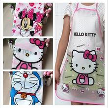 Waterproof PE Woman apron Kawaii Jingle Cats Adult Women Lady's Kitchen Cooking Pinafores Aprons Cartoon Apron Fun