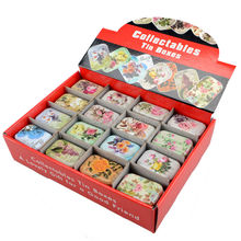 32pcs/lot floral design mini storage tin box organizer pillbox jewelry container girl favor household lovely iron box BO57224246