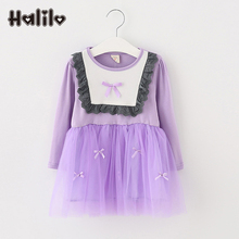 2017 Girls New Arrival Spring Toddler Dresses Patchwork Little Girl Dresses Casual Children Clothing Chinese Style Girls Dress