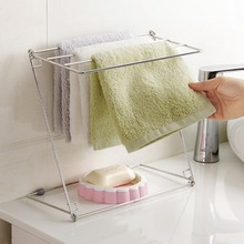 Kitchen Cleaning Cloth Drying Racks Holders Stainless Steel Towels Cloth Desktop Foldable Towel Shelves High Quality