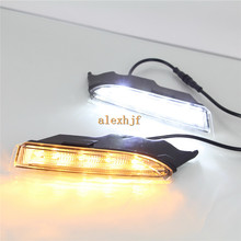 July King LED Daytime Running Lights DRL Case for Volkswagen scirocco R 2010~14, LED Fog Lamp+Yellow Turn Signal Light, HA ,1:1(China)