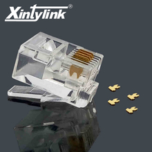 xintylink rj11 connector rj11 plug gold Plated 6P4C male modular terminals network telephone connector high quality 50pcs(China)