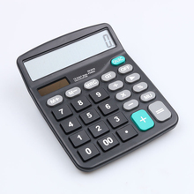 Portable Office Electronic Calculator Mini Commercial Tool Battery Solar 2 in 1 Powered 12 Digit with Big Button Hot Sale