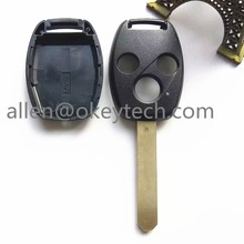 best good 3 buttons remote car key for honda accord Civic CR-V Pilot Fit plastic car keys replacement remote fob+free shipping