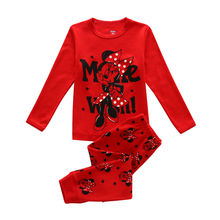 Baby Girls Sleepwear Pajama Sets 100 % Cotton Hello Kitty Printed t-shirt+pants 2pcs Bebes Children's Clothing
