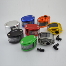 New CNC Aluminum Brake Fluid Reservior Motorcycle Scooter Sport Bike Street Bike Dirt Bike Brake Clutch Oil Fluid Tank Oil Cup