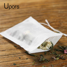 Upors 100pcs Empty Tea Bag Green Tea Infuser Food Grade Filter Accessories Flower Tea Strainers Paper Bags(China)