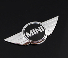 Mini Cooper Logo 3D Car Stickers Metal Emblems for MINI Car Front Badge Logo with 3M sticker for Car Badges Emblem Decoration