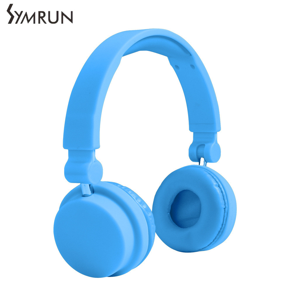 Symrun Newest Cute Headphones Candy Color Foldable Kids Headset With Mic Earphone For Mp3 Player Microphone Headphone<br><br>Aliexpress