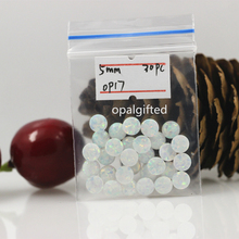 (30pcs/lot)Free Shipping op17 fire white Round Cabochon Opal 5mm Diameter Synthetic Opal Round Shape Cabochon Wholesale