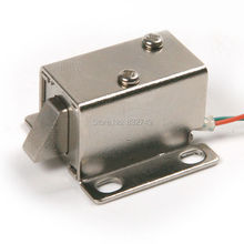 NEW 1PCS DC12V/350MA Cabinet Door Lock Electric Lock Assembly Solenoid Free Shipping and Wholesale(China)