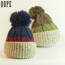 Women Winter Casual Beanies Hats Crochet Knitting Wool Cap big Pompons Ball ski Gorros Outdoor Thick Femal Skullies Acrylic cap