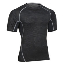 New Hot Sale Men Fitness Shirt Thermal Muscle Shaping Breathable T-shirts Workout Quick Dry Compression Male Shirts(China)