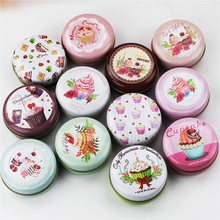 Fresh Cake Picture Tin Box Round Mini Tea Box 12 Piece/Lot Mac Cosmetics Lipstick Organizer Candy Case Good Kitchen Accessories
