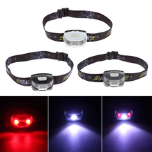 New 5 Modes Mini Head Lamp CREE Q5 + 2 Red LED 3000LM Led Headlamp Outdoor Headlight Flashlight Torch Lamp Built-in AAA Battery