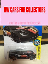 2016 new Hot Wheels 1:64 Wind fire wheels small sports car frighteningly hot 14 sting ray for corvette(China)