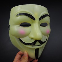 Yellow Full Face V Mask Vendetta Mask Super scary Halloween Party Mask mardi gras Costume masquerade party prop free shipping