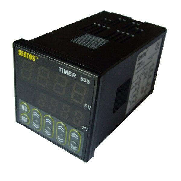 Sestos Digital Quartic Timer Relay Switch 100-240V Omron Relay Ce Ac100-240V B3S<br>