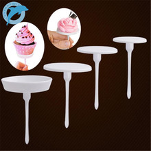 LINSBAYWU 1Set/4PCS New Sugarcraft Cupcake Cake Stand Icing Cream Flower Decorating Nail Set Tool