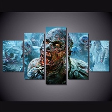 2017 JIE DO ART Only Canvas, Modern Art Deco HD Print Oil Painting On Canvas The Walking Dead Rick Grimes Poster 5pcs/set(China)