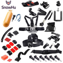 Buy SnowHu Gopro Hero Accessories Set Helmet Harness Monopod Gopro hero 6 5 5S 4 3+ sjcam xiaomi yi EKEN Black Kit Y43 for $20.02 in AliExpress store