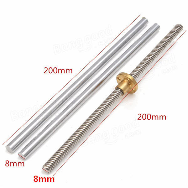 15pcs 200mm Optical Axis Guide Bearing Housings Aluminum Rail Shaft Support Set CNC Parts
