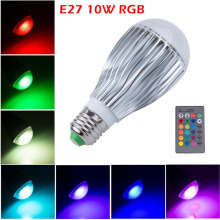 20PCS DHL UPS LED Globe 16 Color Changing E27 B22 AC 110V-240V 220V 10W RGB LED Ball Bulb Lamp Spot Light With Remote Christmas