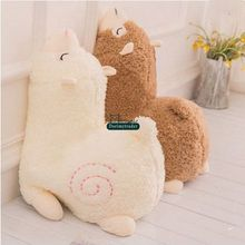 Dorimytrader Hot New 70cm Giant Soft Cartoon Alpaca Plush Pillow 28'' Big Stuffed Animal Sheep Toy Sleeping Pillow Lover Gift(China)