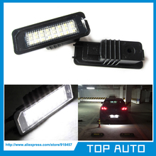 2Pcs LED Number License Plate Light for Skoda SEAT Leon 2006-2010(China)