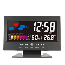 Digital Thermometer Hygrometer weather station Alarm Clock temperature gauge Colorful LCD Calendar Vioce-activated Backlight
